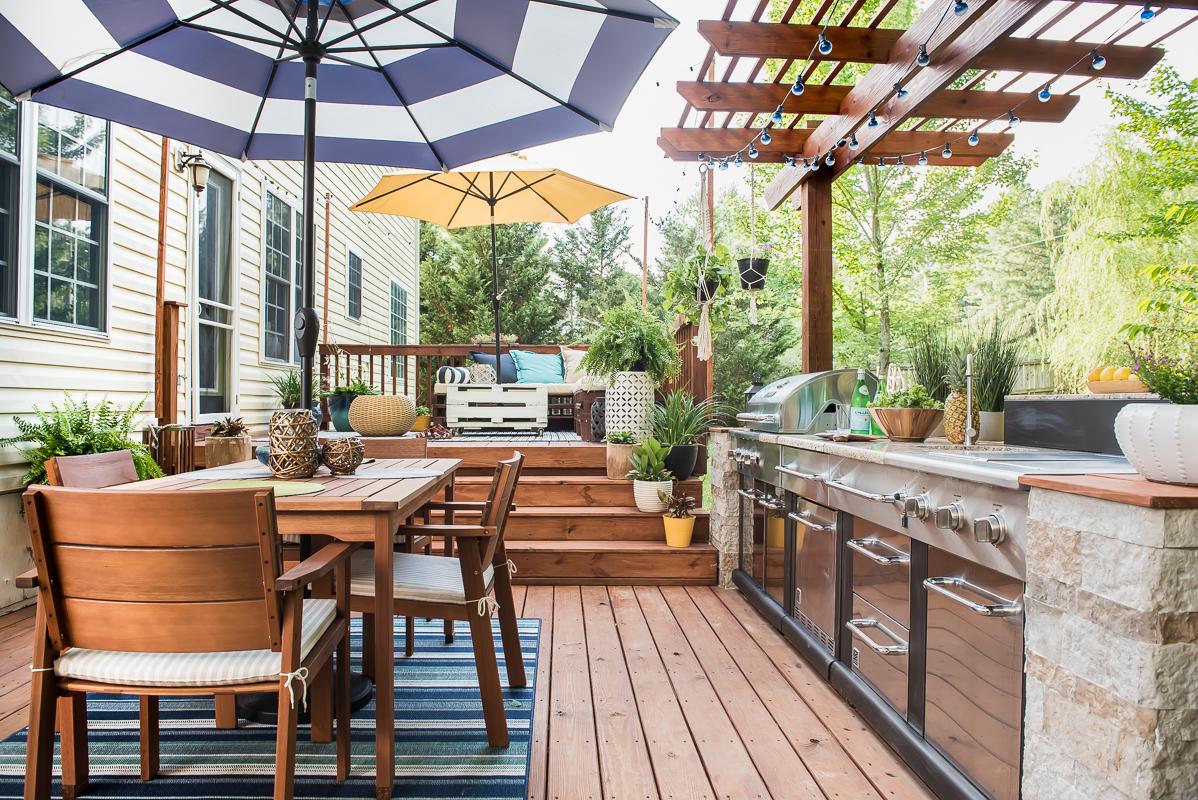 DIY Outdoor Deck Kitchen