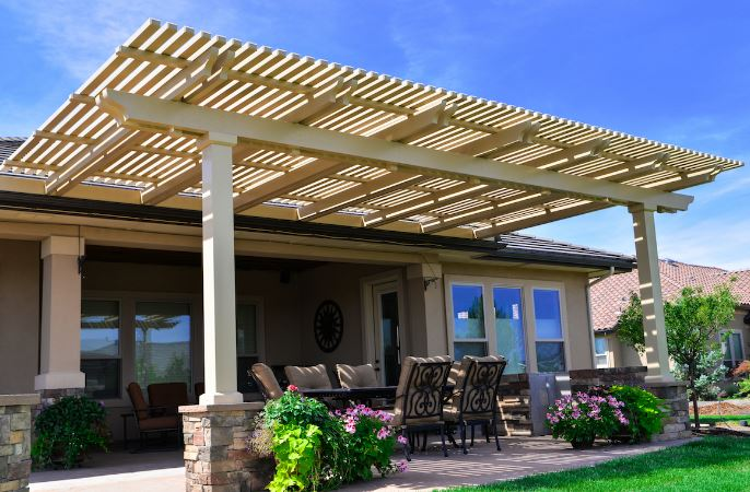 What is the purpose of a pergola?
